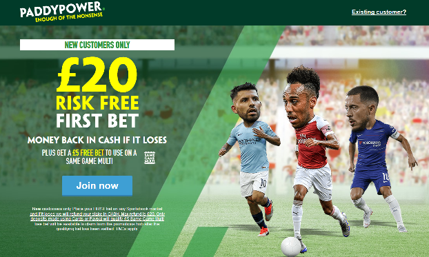 paddy power risk free bet - sign up